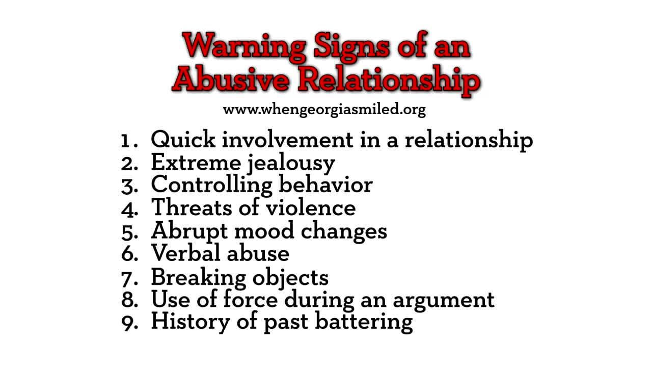 ROWENA: Ten signs of an abusive relationship