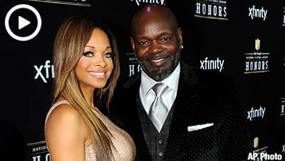 Former NFL player Emmitt Smith, right, and  Patricia Southall arrive at the 2nd Annual NFL Honors on Saturday, Feb. 2, 2013 in New Orleans. (Photo by Jordan Strauss/Invision/AP)