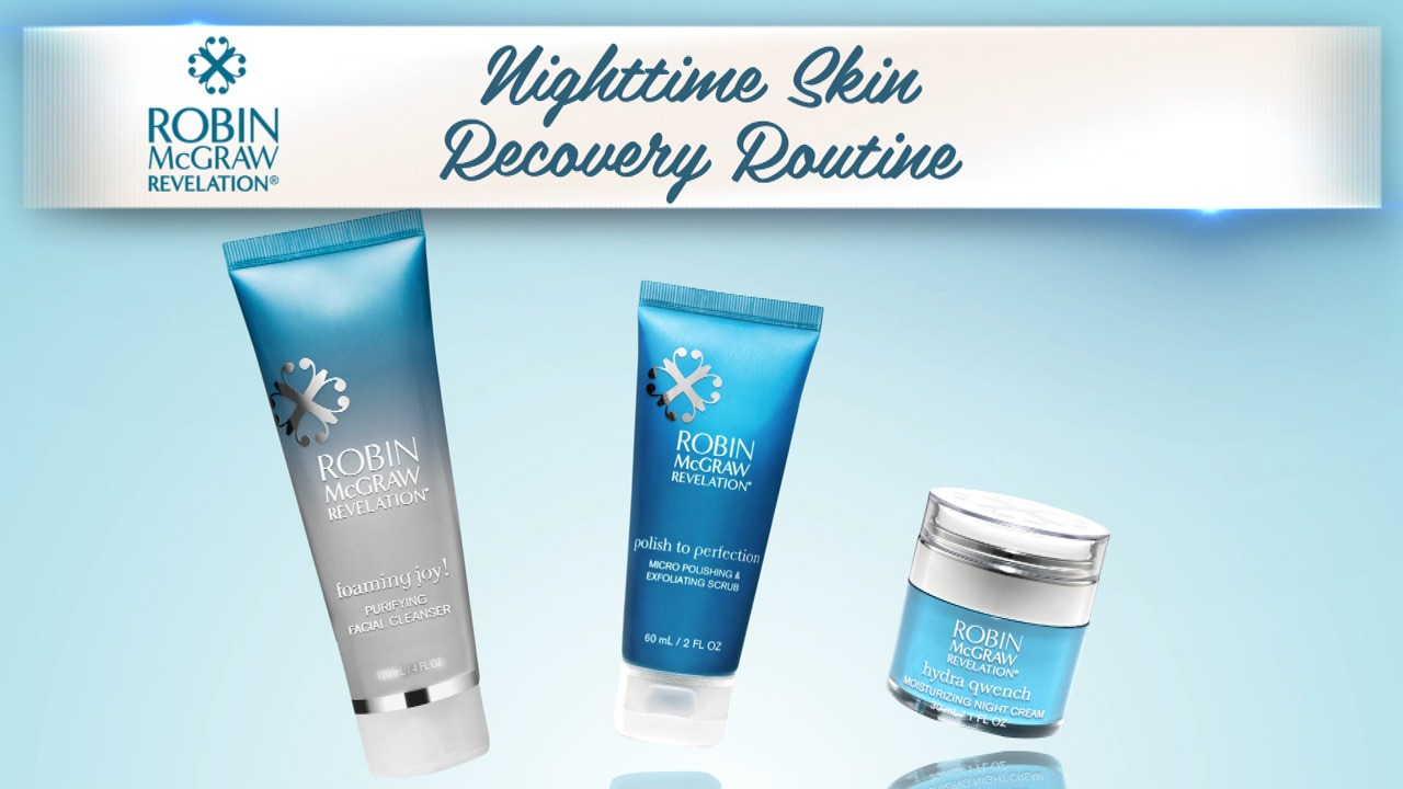 Skincare As Easy As 1, 2, 3 With Nighttime Recovery Regimen From Robin McGraw Revelation