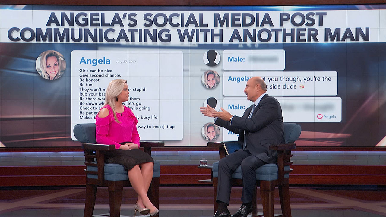 'You're A Married Woman And You're Out Here Chitchatting And Flirting Like You're In High School,' Dr. Phil Says To Guest
