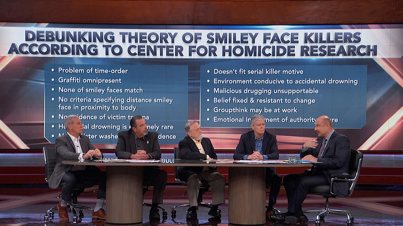 How Former Detectives Investigating 'Smiley Face' Murders Respond To Those Who Debunk Their Theories