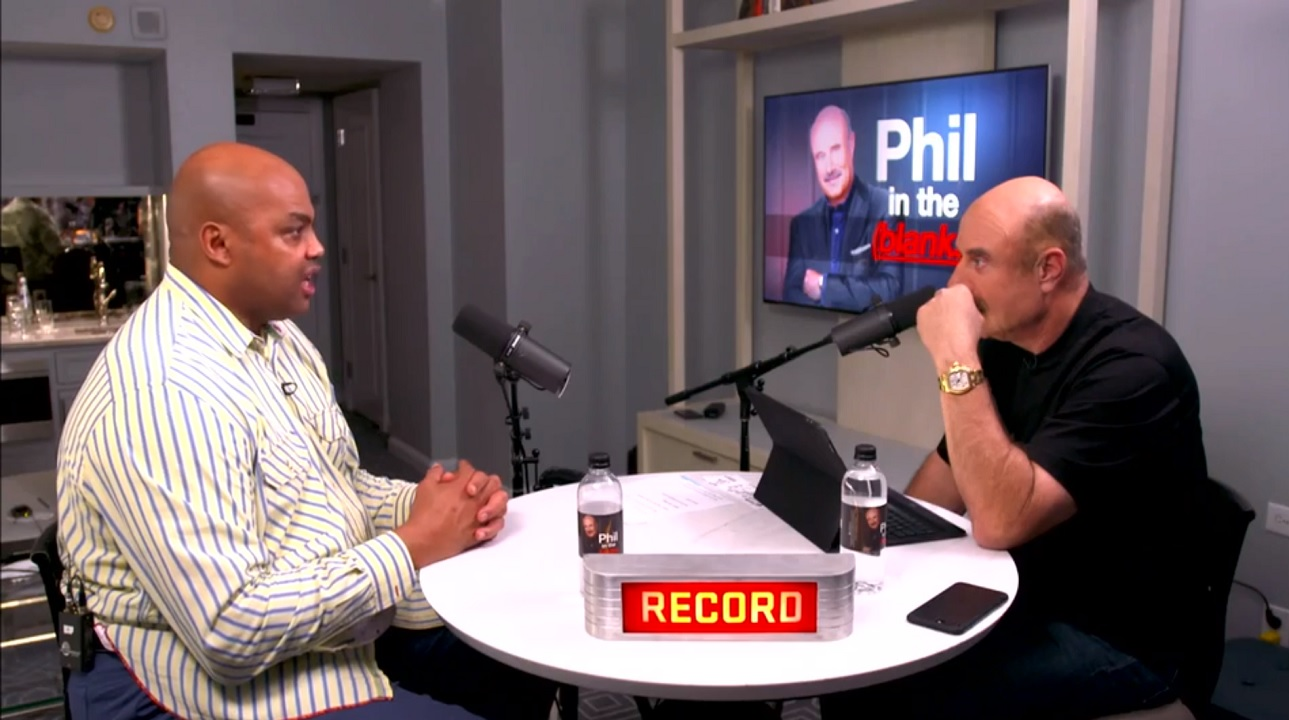 Charles Barkley On Why He 'Played Angry' For Years  On 'Phil In The Blanks' Podcast