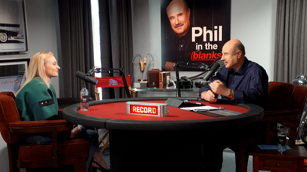 'Game Of Thrones' Star Sophie Turner Tells Dr. Phil She Has A 'Real Urge' To Become A Cop On 'Phil In The Blanks' Podcast